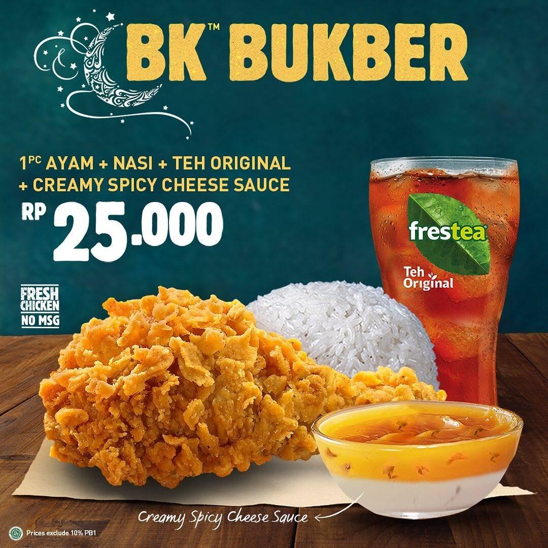 Diskon Burger King Promo Paket BK Bukber Dengan Harga Mulai Dari Rp. 25.000