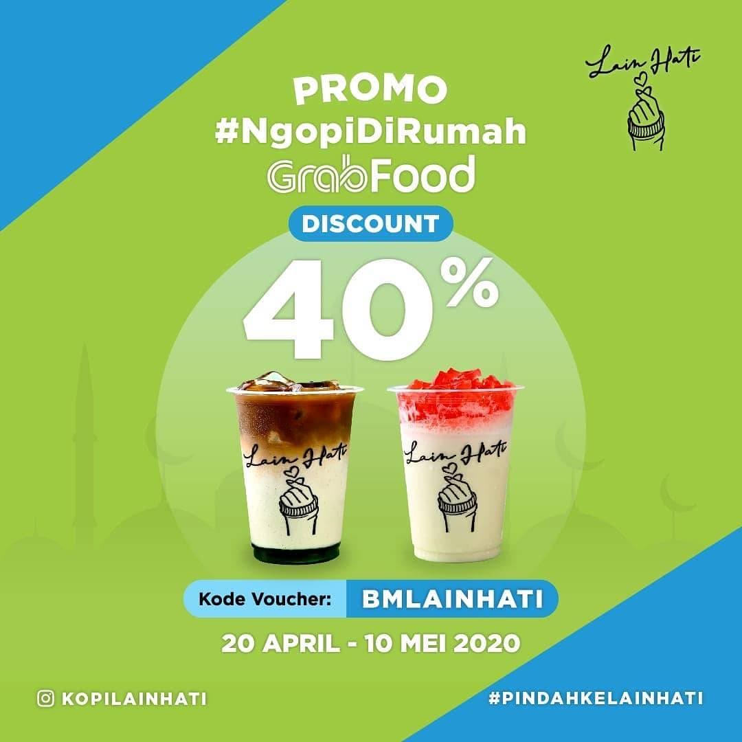 Diskon Kopi Lain Hati Promo Diskon 40% Untuk Pemesanan Minuman Via GrabFood