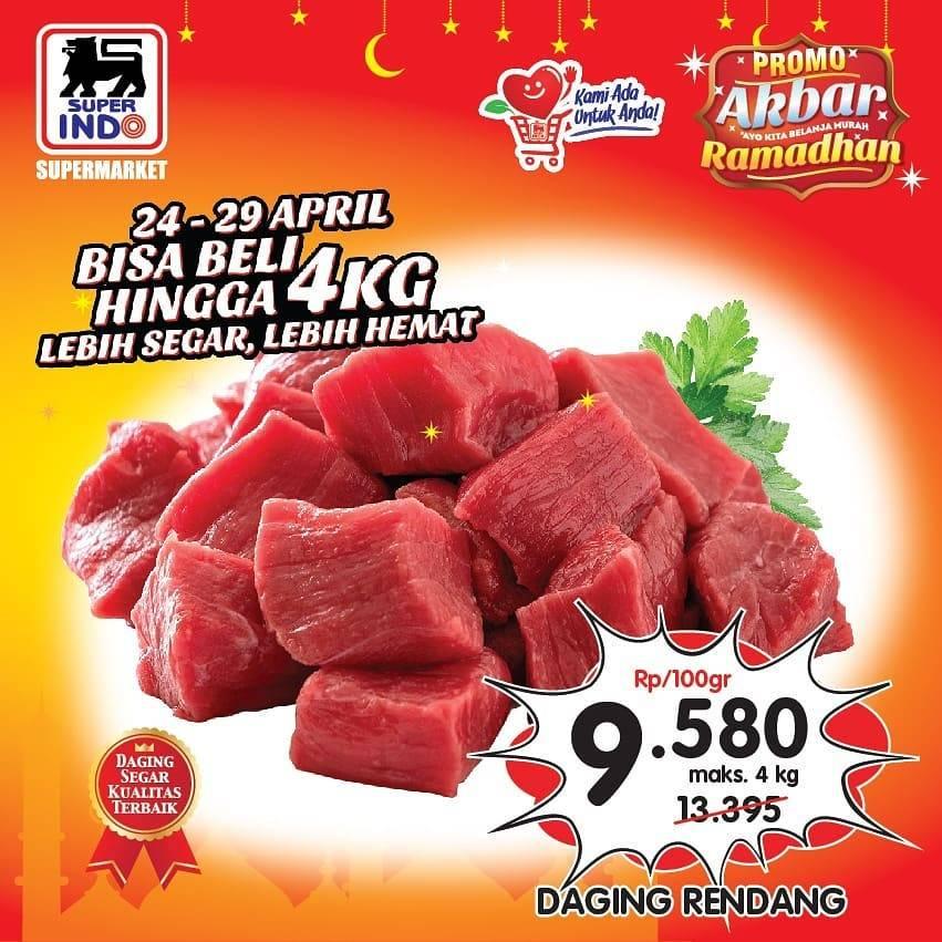 Diskon Superindo Promo Harga Spesial Daging Rendang Cuma Rp. 9.590/100gr