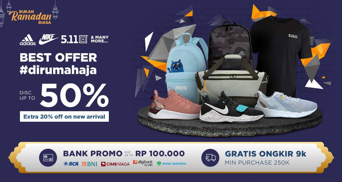 Diskon iLotte.com Promo Best Offer Di Rumah Aja, Dapatkan Diskon Hingga 50% + Ekstra 20% Untuk Stock Baru