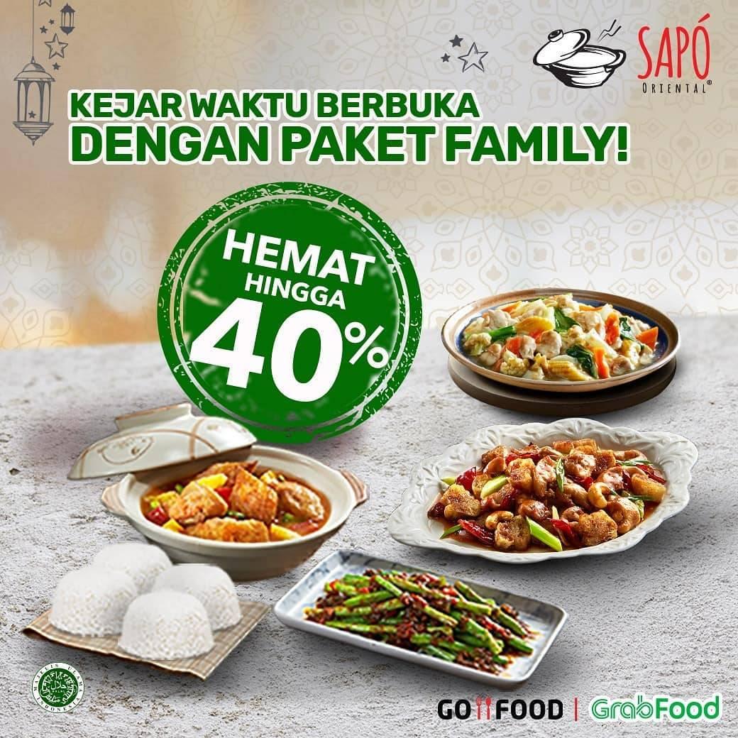 Diskon Sapo Oriental Promo Diskon 40% Untuk Paket Family Dengan Pemesanan Via GrabFood/GoFood