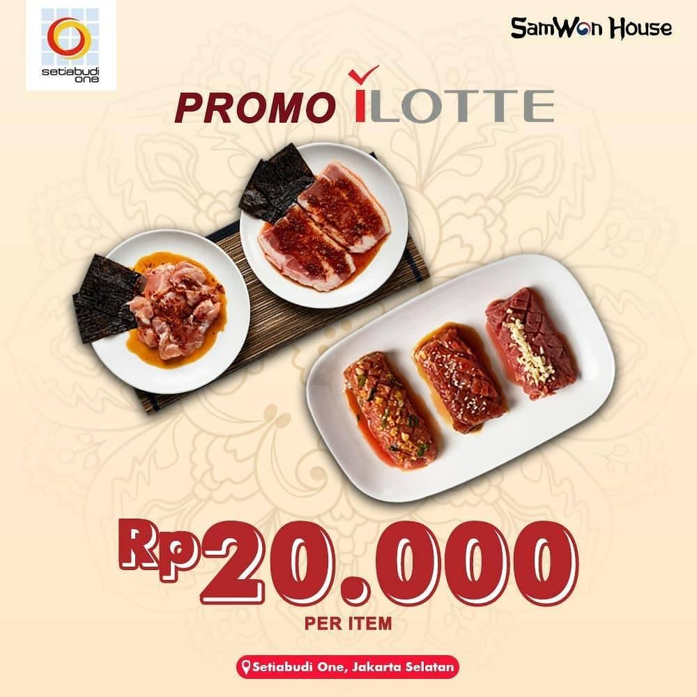 Diskon SamWon Promo Harga Spesial BBQ Korea & Jepang Cuma Rp. 20.000/Item Untuk Pemesanan Di iLotte