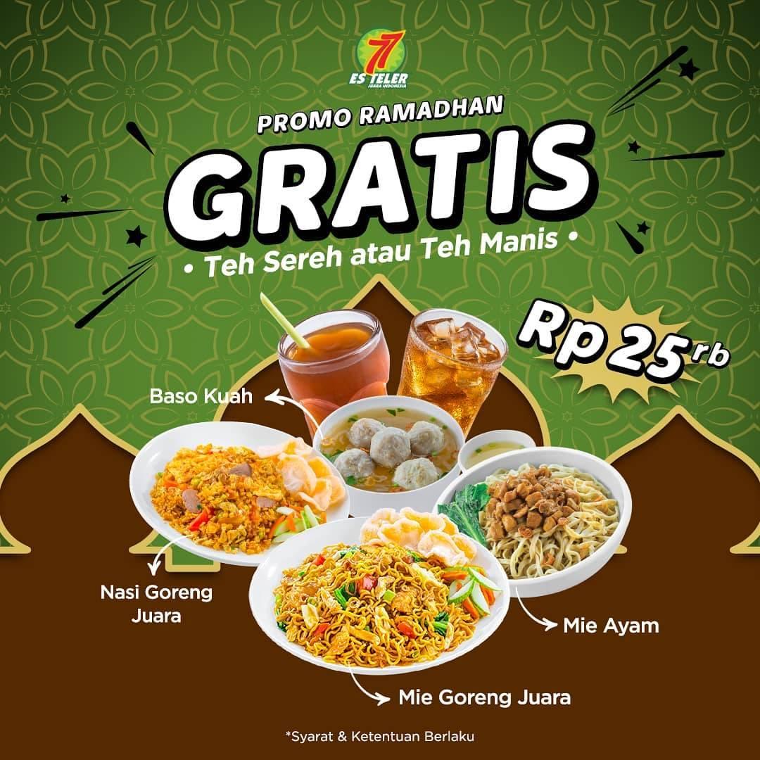 Diskon Es Teler 77 Promo Ramadhan Gratis Teh Sereh / Teh Manis Setiap Pemesanan Menu Favorit