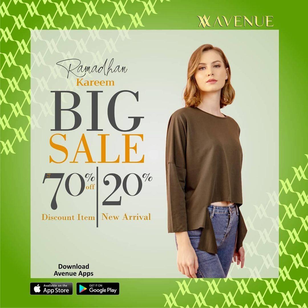 Diskon Avenue Ramadhan Kareem Big Sale 70% Off Discount Item & 20% Off On Normal Items