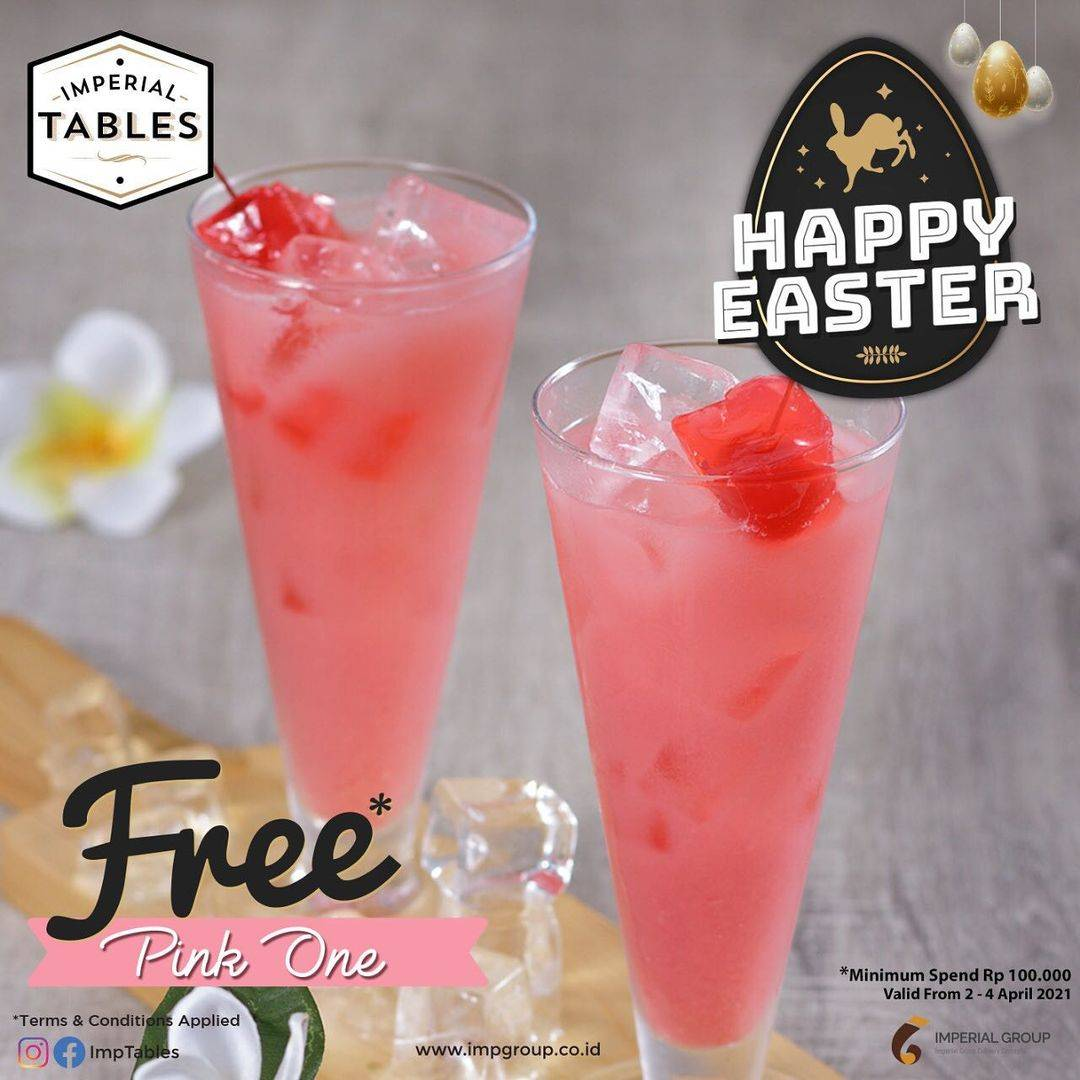 Diskon Imperial Tables Promo Happy Easter Get Free Pink One