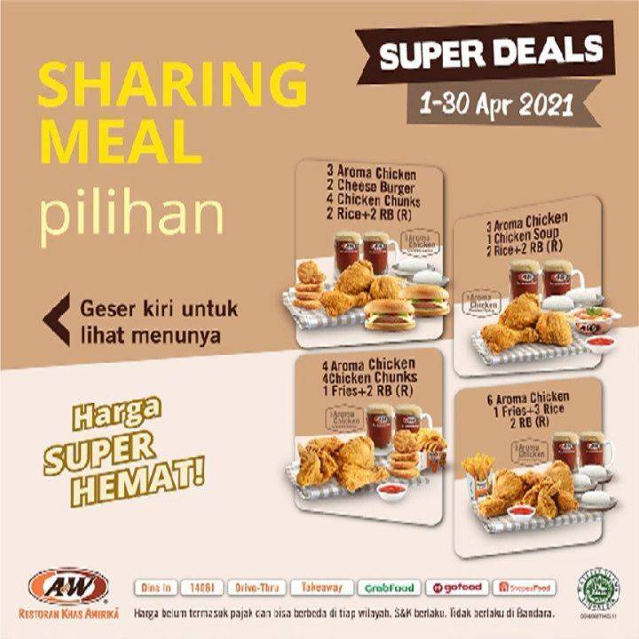 Diskon A&W Restaurant Promo Sharing Meal