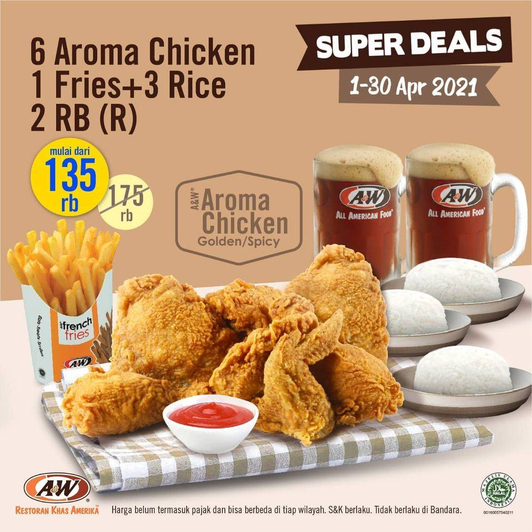 Promo diskon A&W Restaurant Promo Sharing Meal