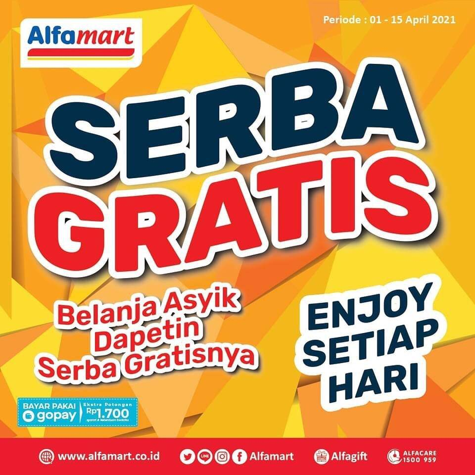 Diskon Katalog Promo Alfamart Serba Gratis Periode 1 - 15 April 2021