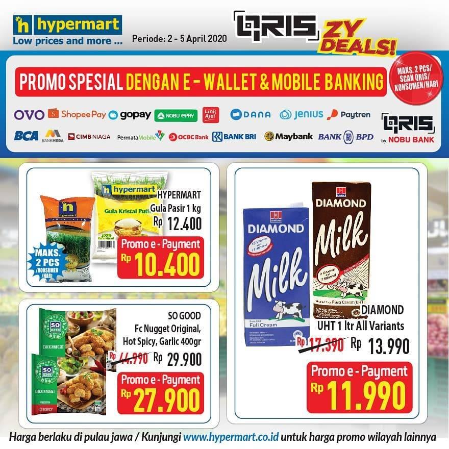 Diskon Katalog Promo Hypermart E wallet dan Bank Periode 2 - 5 April 2021