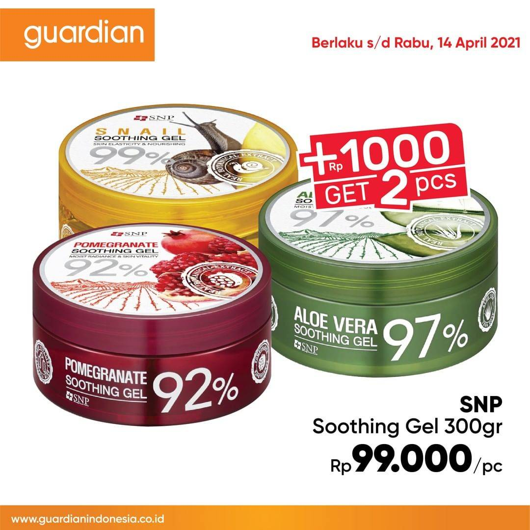 Promo diskon Katalog Promo Guardian Super Hemat +1000 Dapat 1 - 14 April 2021