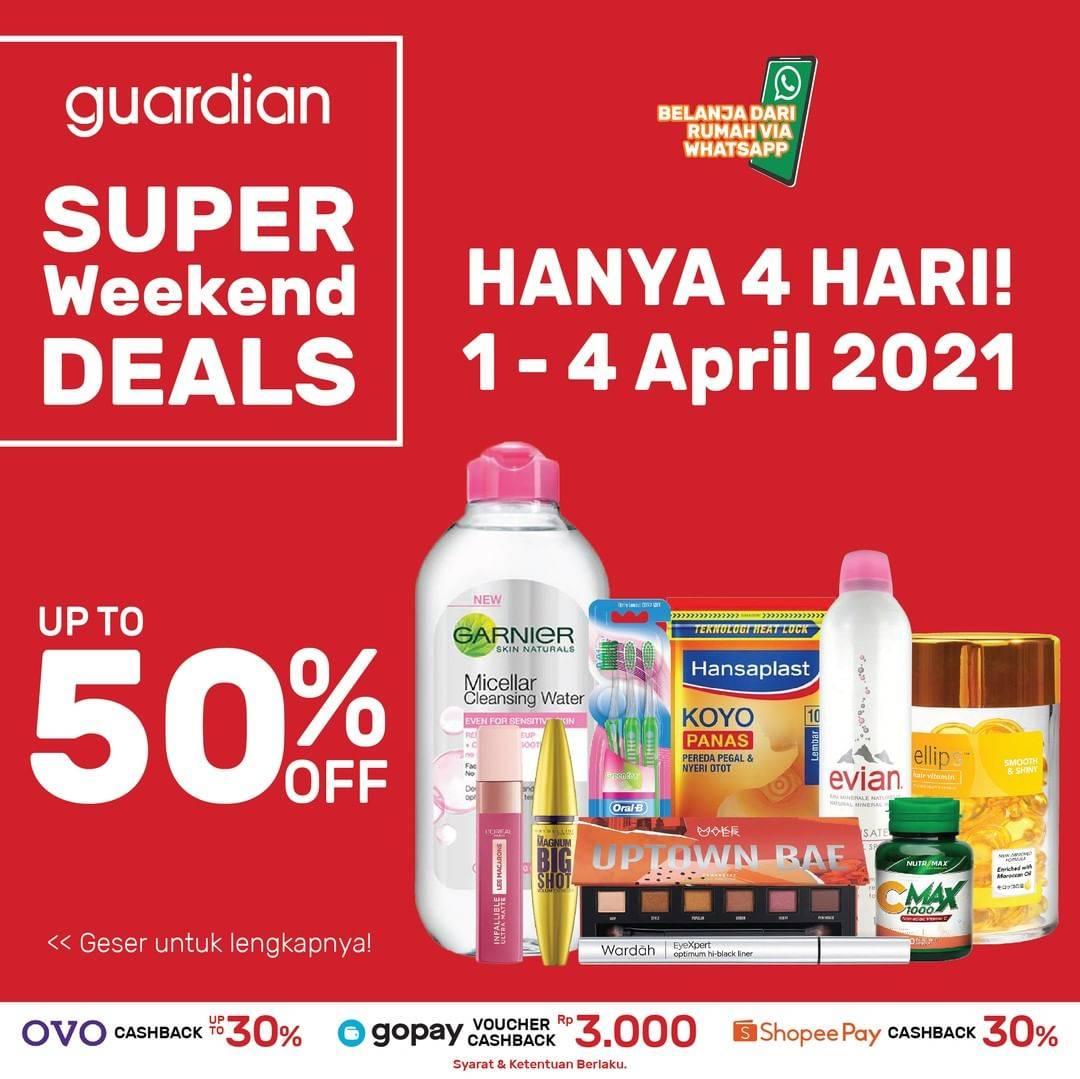 Diskon Katalog Promo Guardian Weekend Deals up to 50% Periode 1 - 4 April 2021