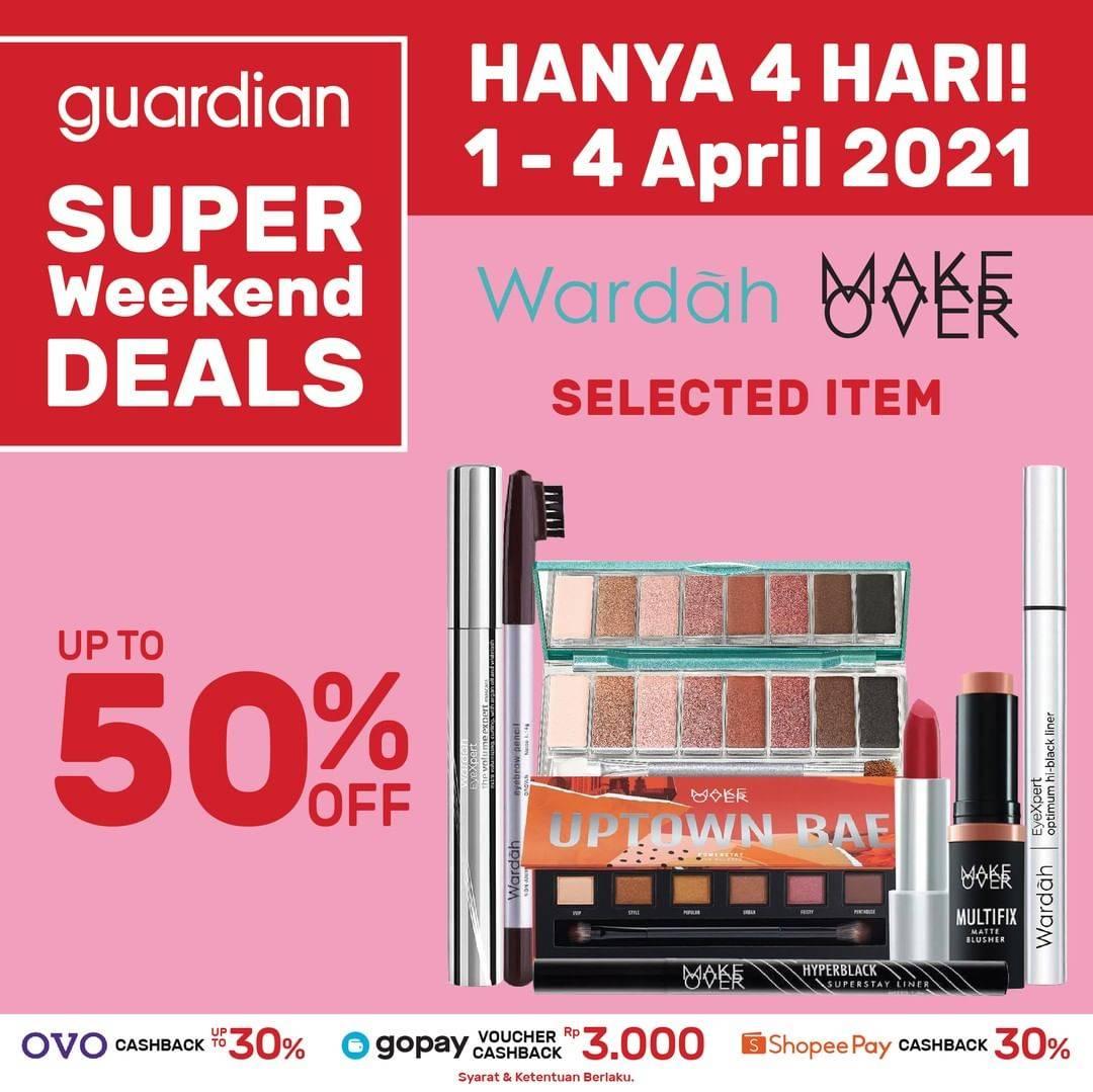 Promo diskon Katalog Promo Guardian Weekend Deals up to 50% Periode 1 - 4 April 2021