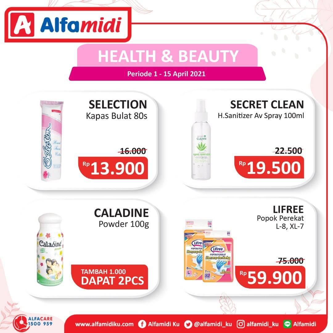 Diskon Katalog Promo Alfamidi Health and Beauty Periode 1 - 15 April 2021