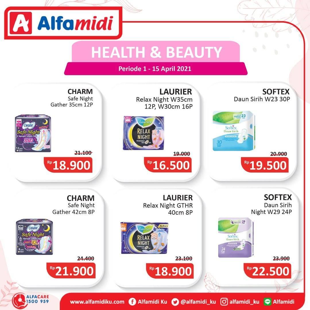 Promo diskon Katalog Promo Alfamidi Health and Beauty Periode 1 - 15 April 2021