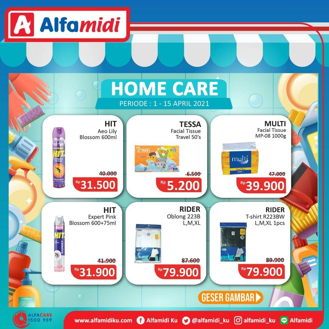 Promo diskon Katalog Promo Alfamidi Home Care Murah Periode 1 - 15 April 2021