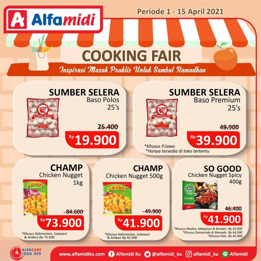 Promo diskon Katalog Promo Alfamidi Cooking Fair Periode 1 - 15 April 2021