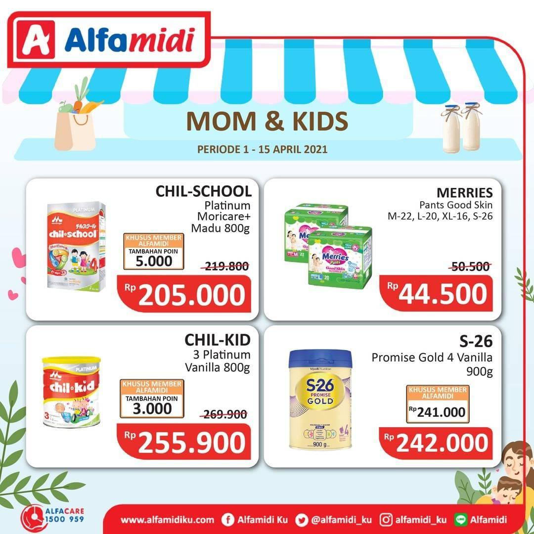 Diskon Katalog Promo Alfamidi Ibu dan Anak Periode 1 - 15 April 2021