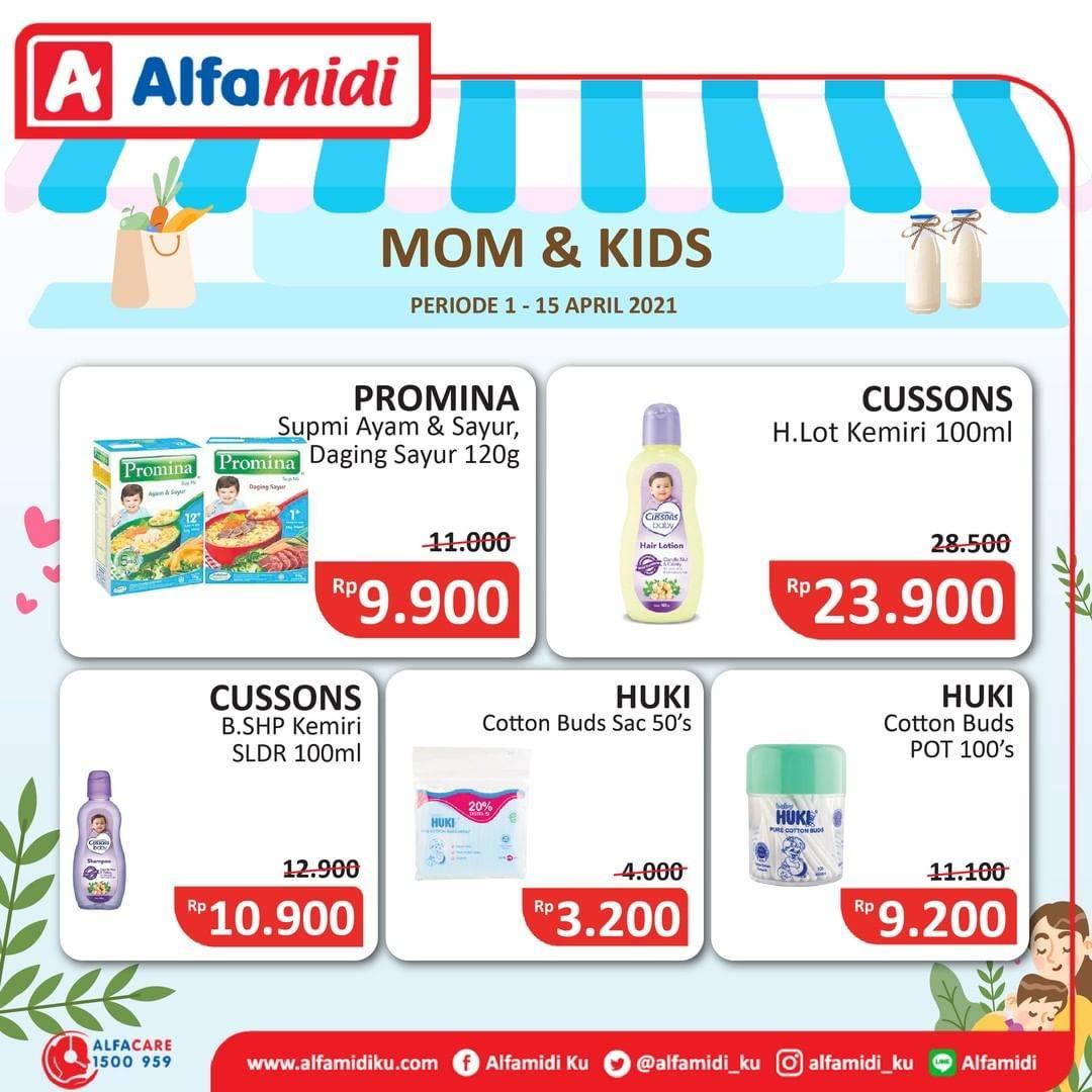 Promo diskon Katalog Promo Alfamidi Ibu dan Anak Periode 1 - 15 April 2021