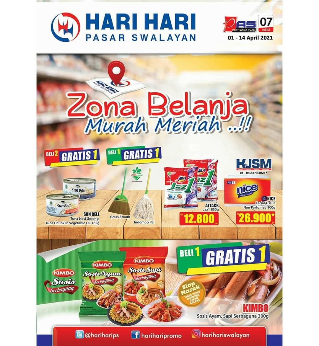 Diskon Katalog Promo Hari Hari Swalayan Promo PAS Periode 1 - 14 April 2021
