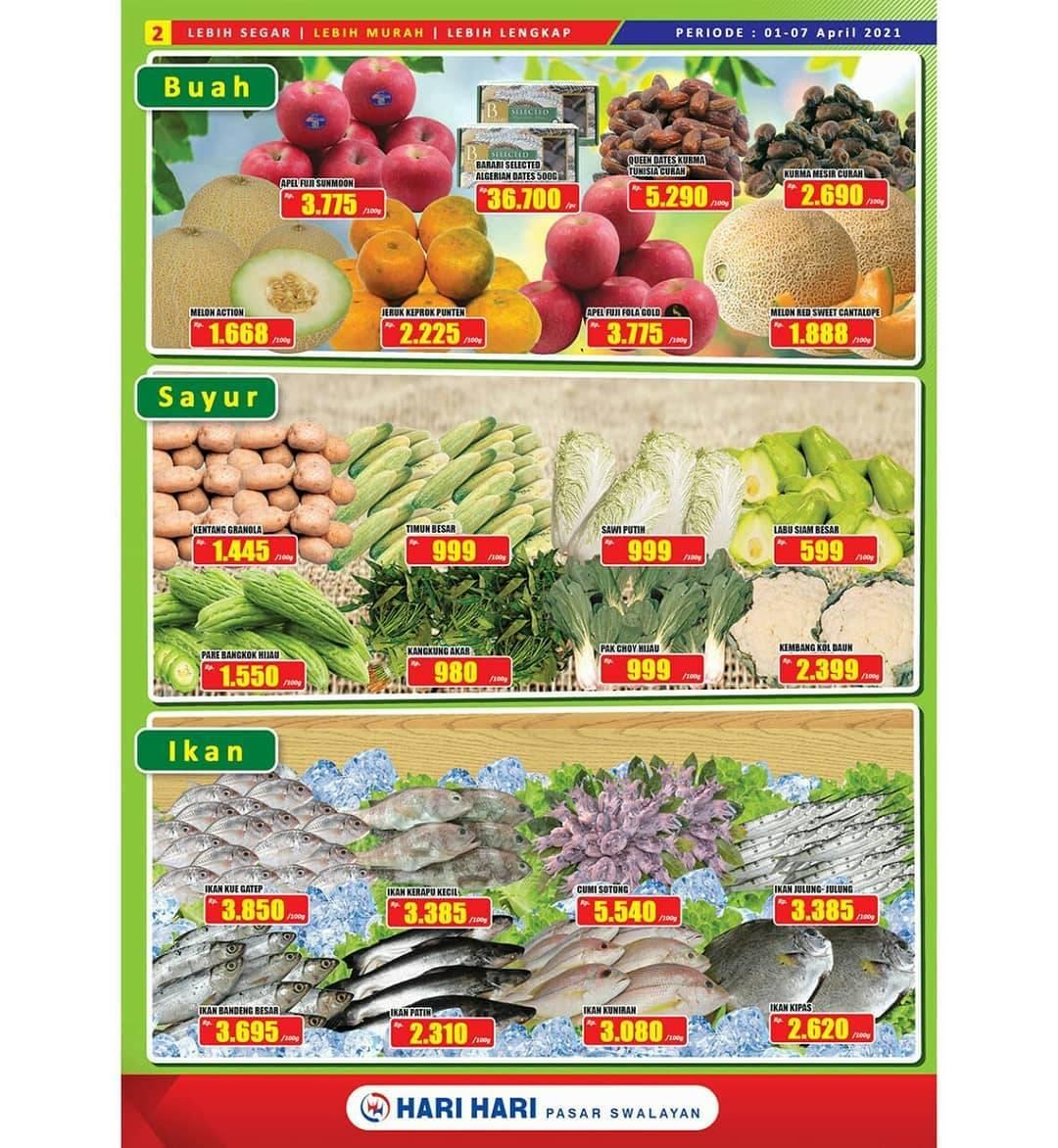 Promo diskon Katalog Promo Hari Hari Swalayan Promo PAS Periode 1 - 14 April 2021