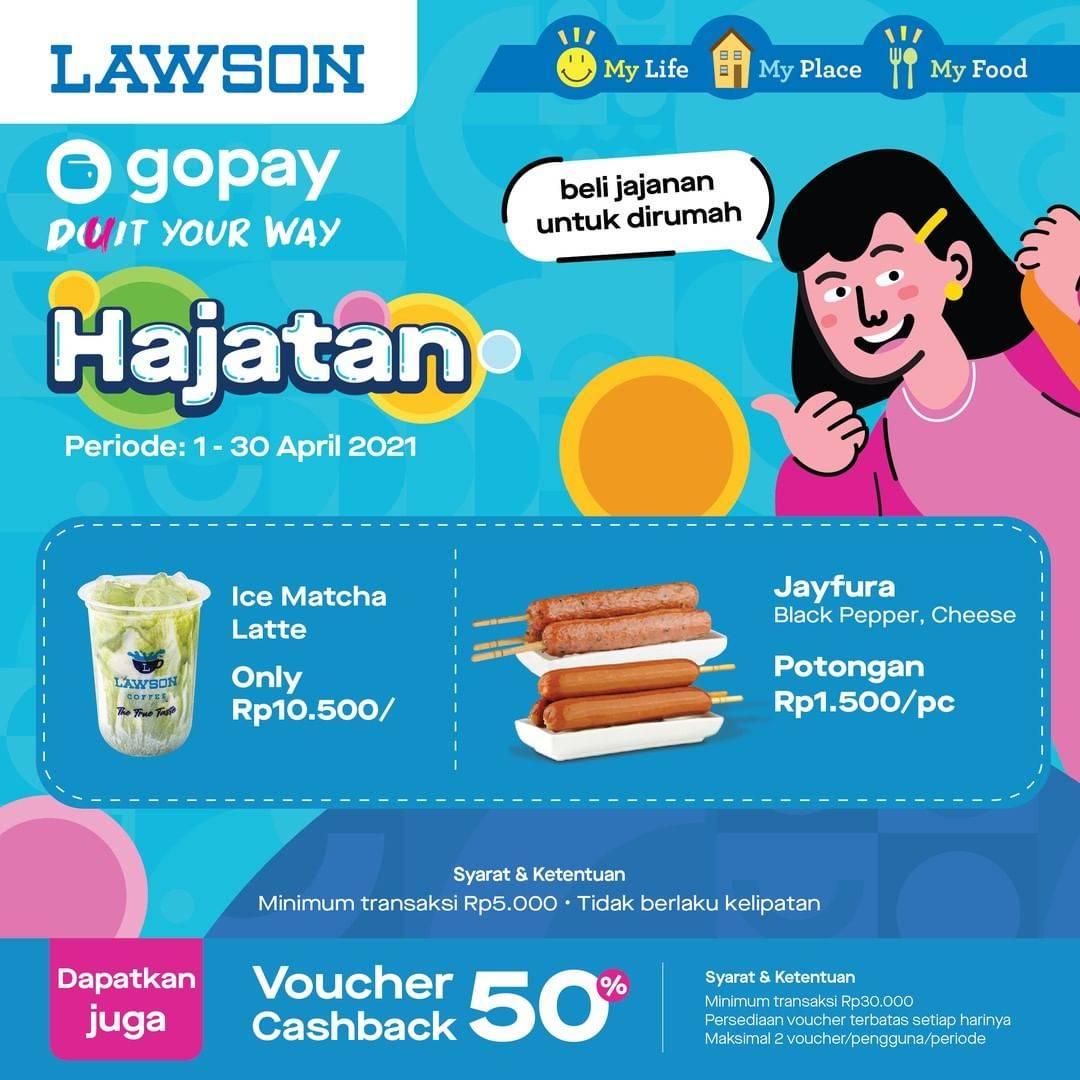 Diskon Katalog Promo Lawson Hajatan Gopay Periode 1 - 30 April 2021