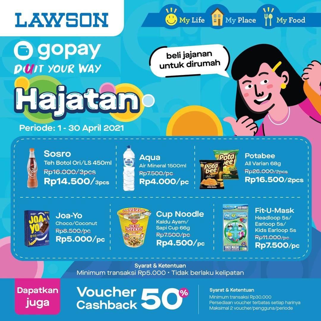 Promo diskon Katalog Promo Lawson Hajatan Gopay Periode 1 - 30 April 2021