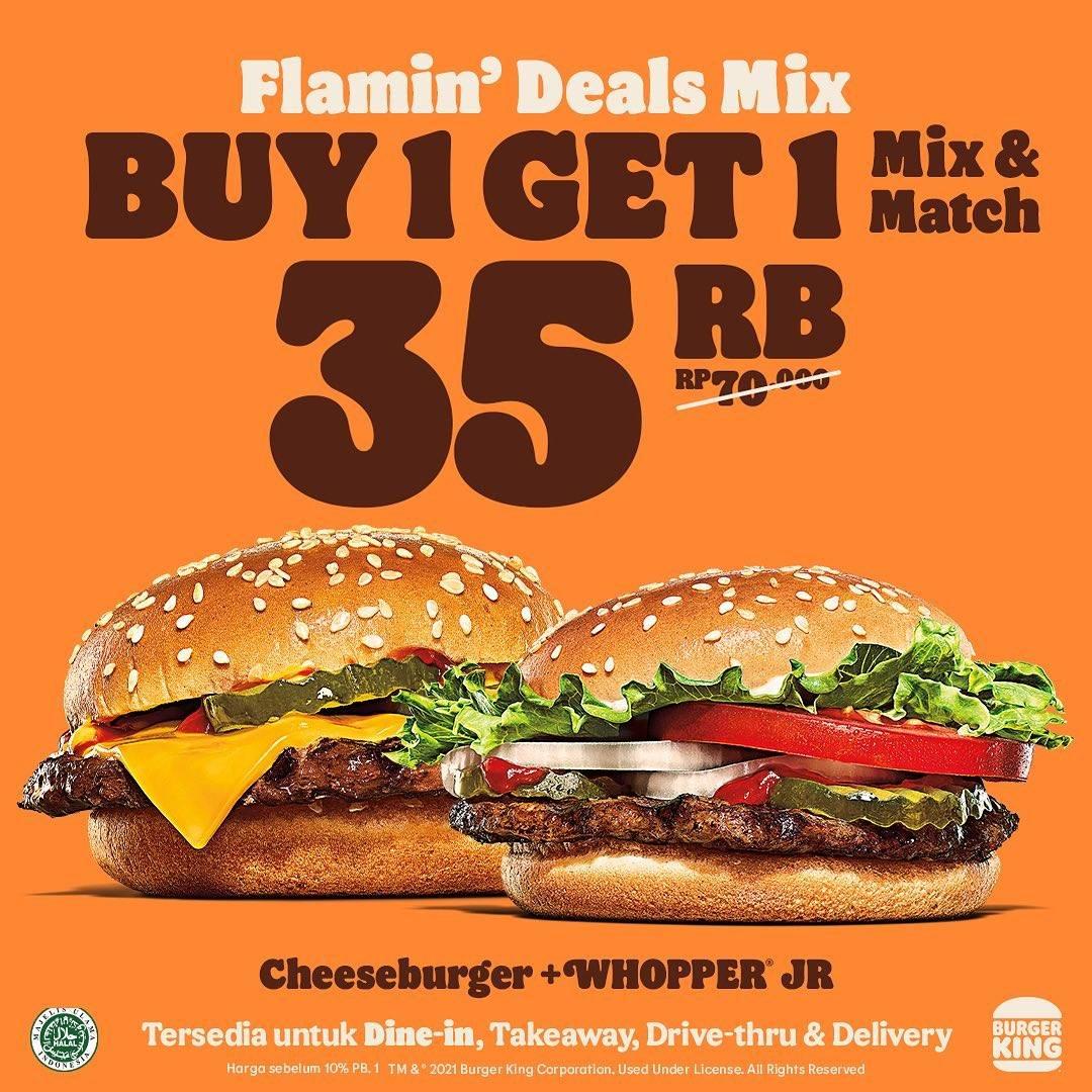 Diskon Burger King Flamin Deal Mix Diskon Hingga 50%