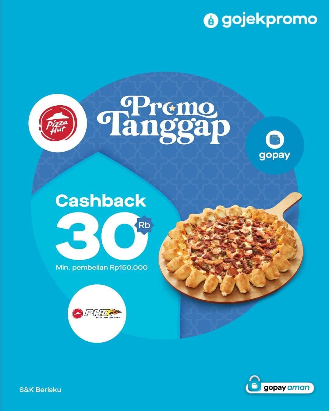 Diskon Pizza Hut Cashback 30% Dengan Gopay