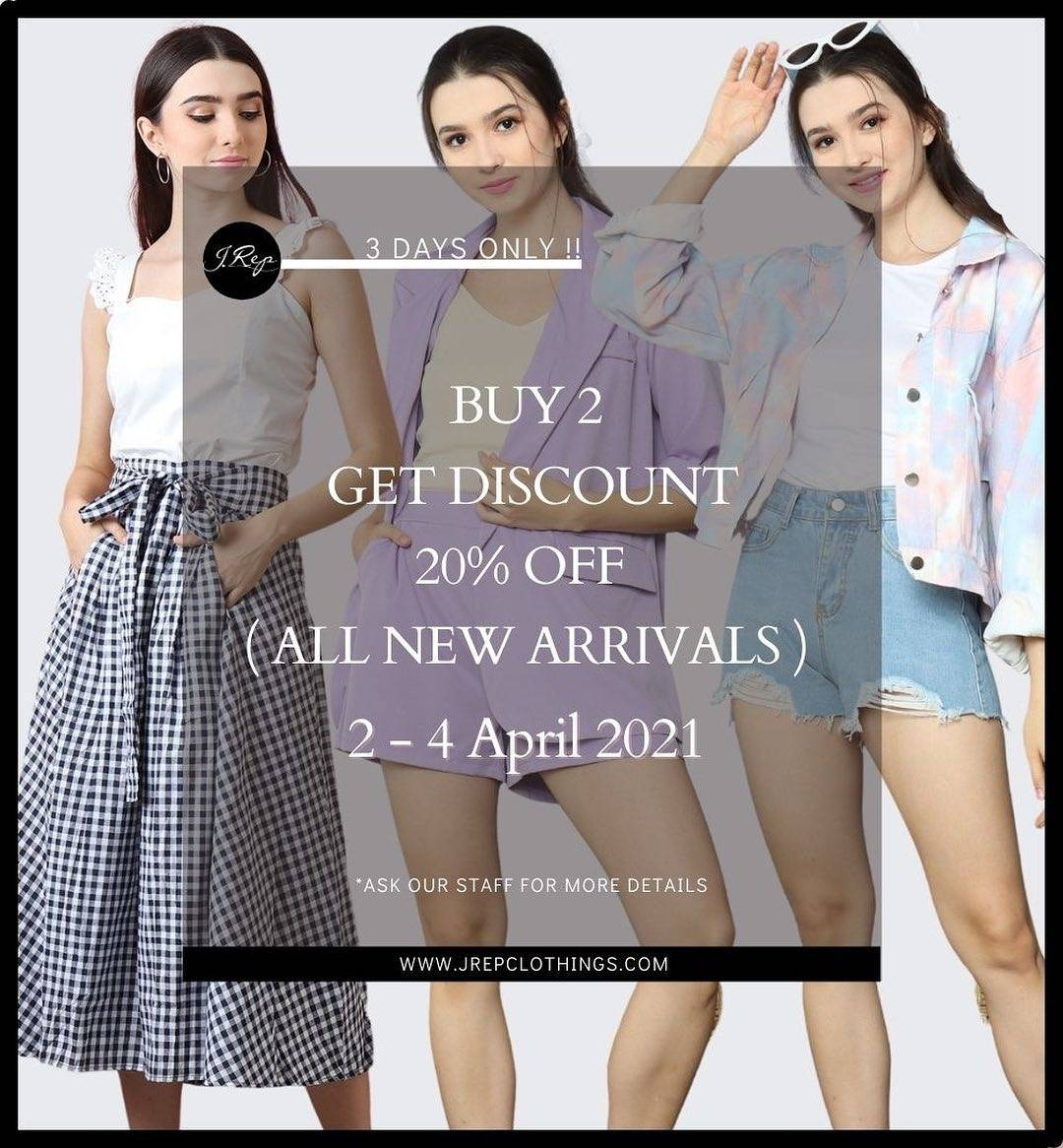Diskon J.Rep Buy 2 Get Discount 20% Off
