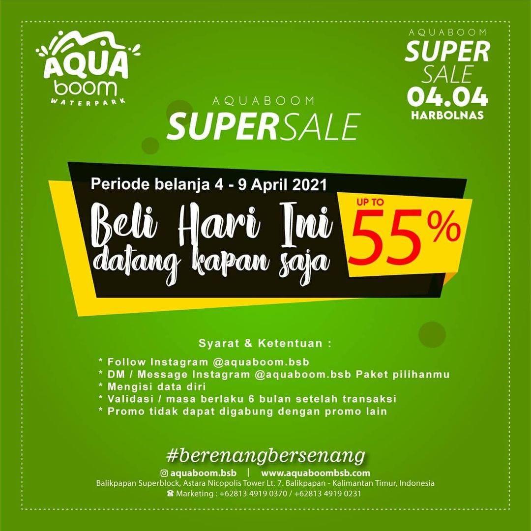 Diskon Aquaboom Super Sale Up To 55% Off