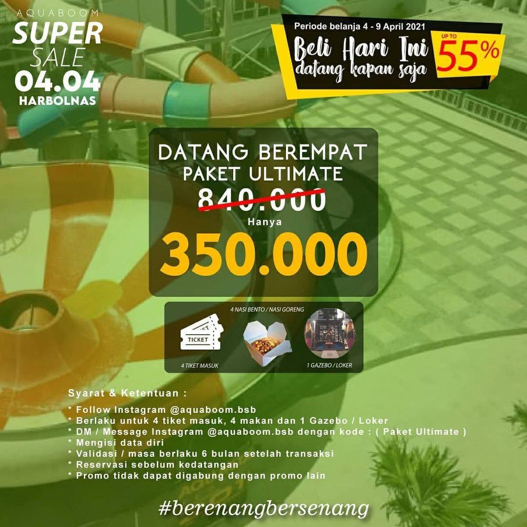 Promo diskon Aquaboom Super Sale Up To 55% Off