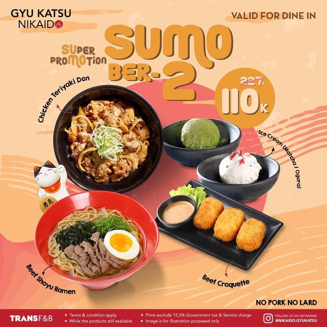 Diskon Gyu Katsu Nikaido Promo Paket Sumo Berdua Hanya Rp. 110.000