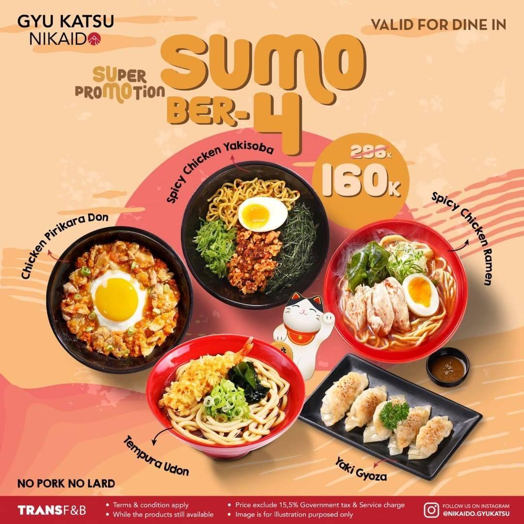Promo diskon Gyu Katsu Nikaido Promo Paket Sumo Berdua Hanya Rp. 110.000