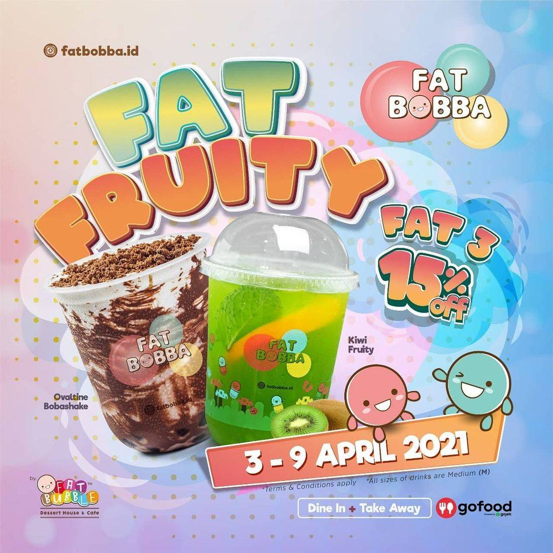 Promo diskon Fat Bobba Diskon 15% Dengan GoFood