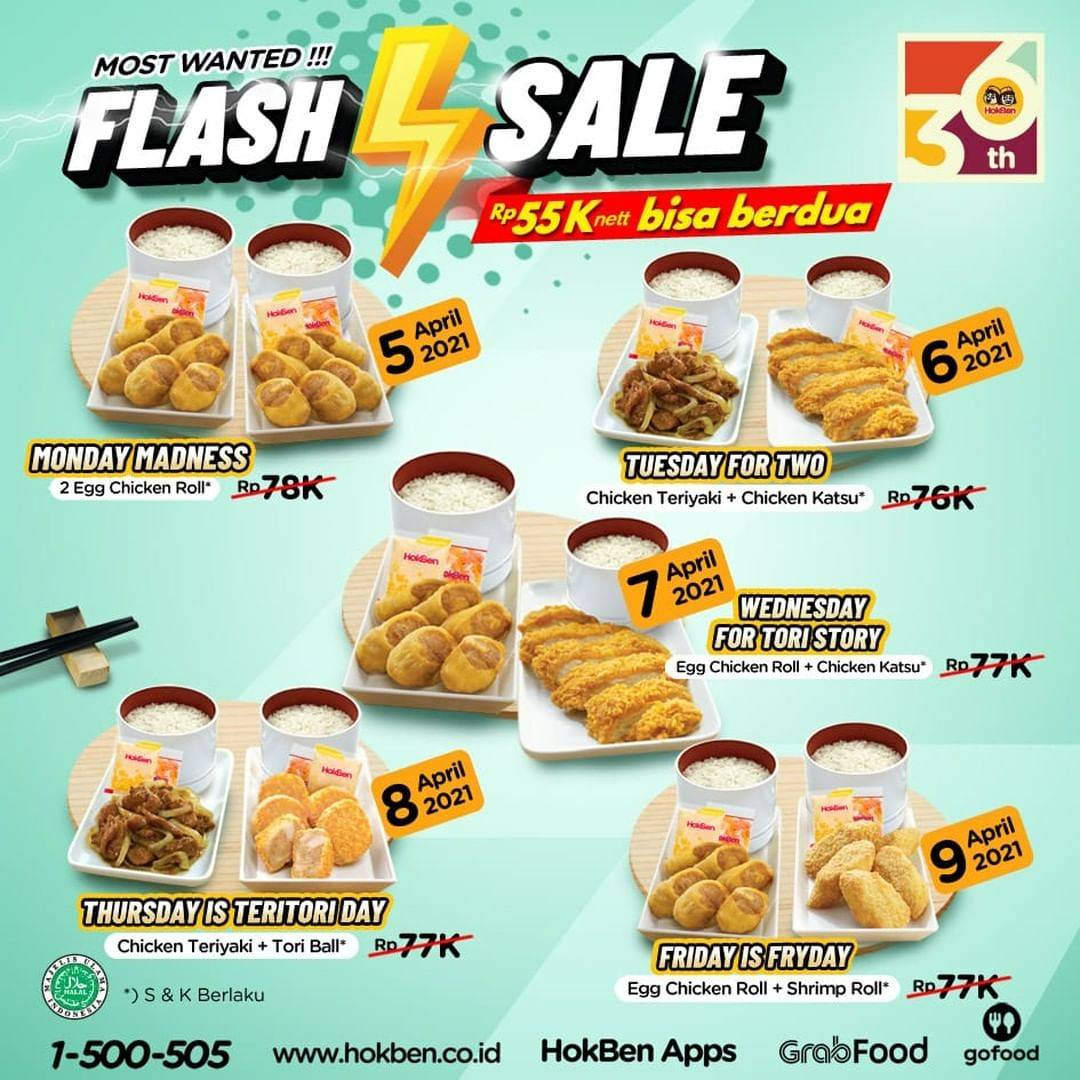 Diskon Hokben Promo Flash Sale 5-9 April 2021