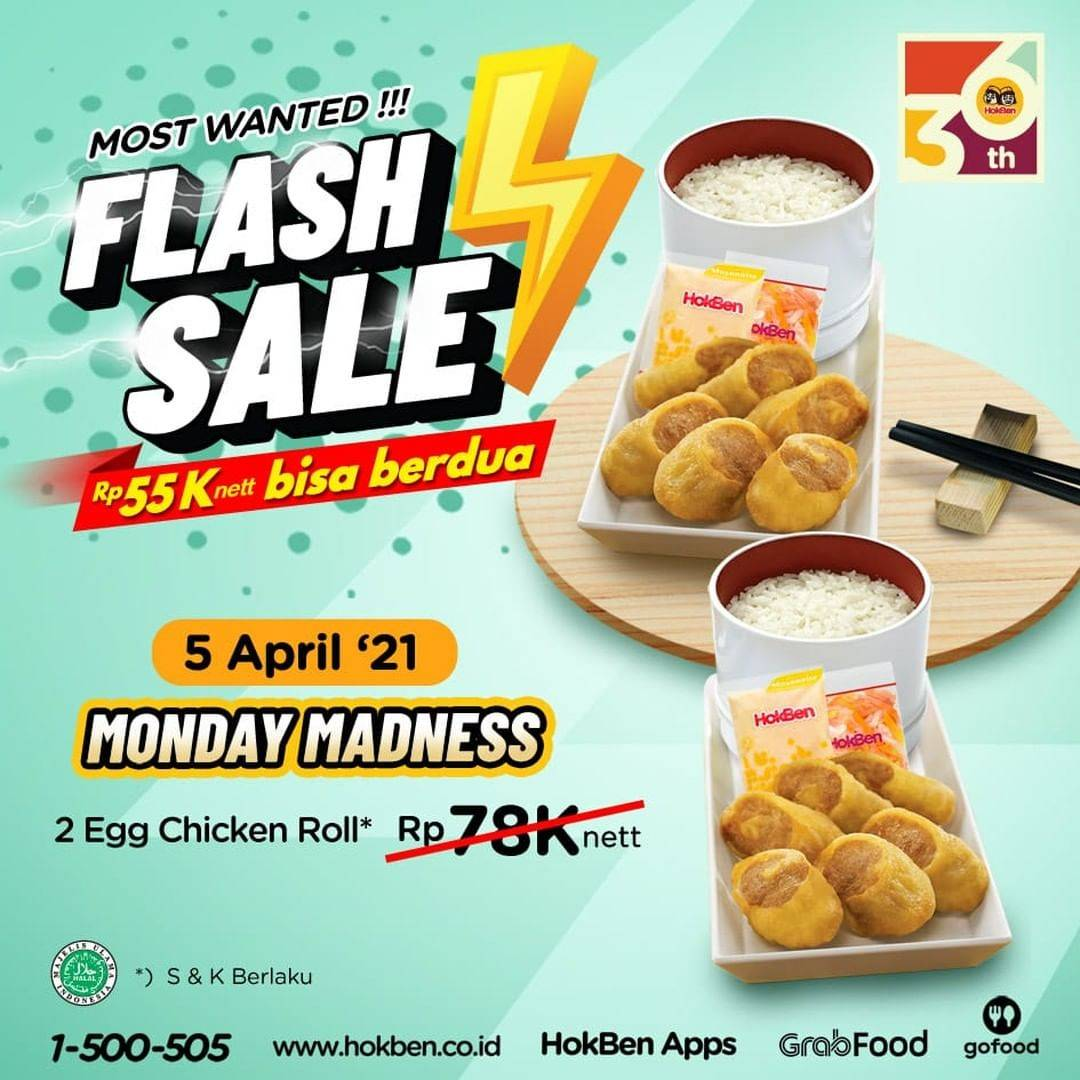 Promo diskon Hokben Promo Flash Sale 5-9 April 2021