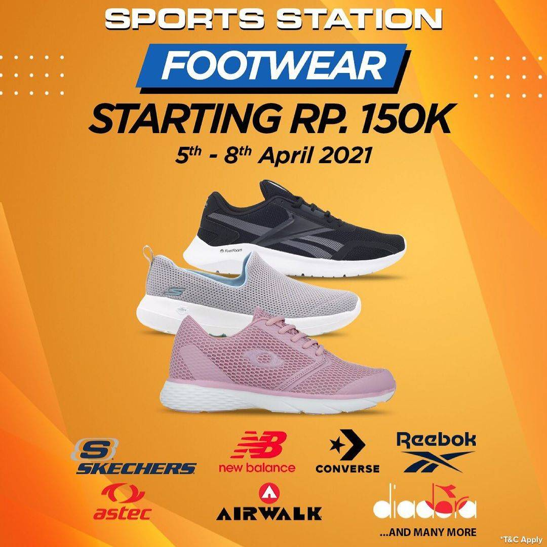 Diskon Sport Station Footwear Special Value Starting From Rp. 150.000