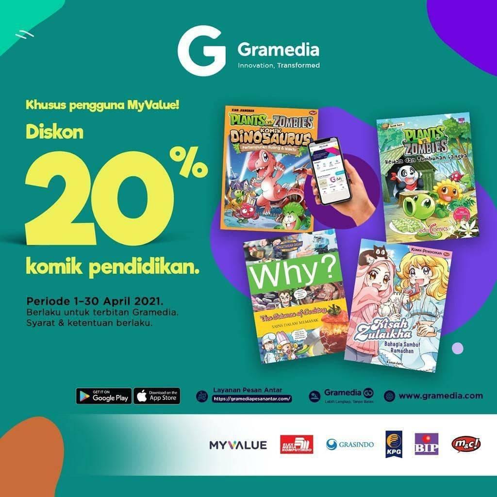 Promo diskon Gramedia Diskon 20% Untuk Buku Baru Terpopuler