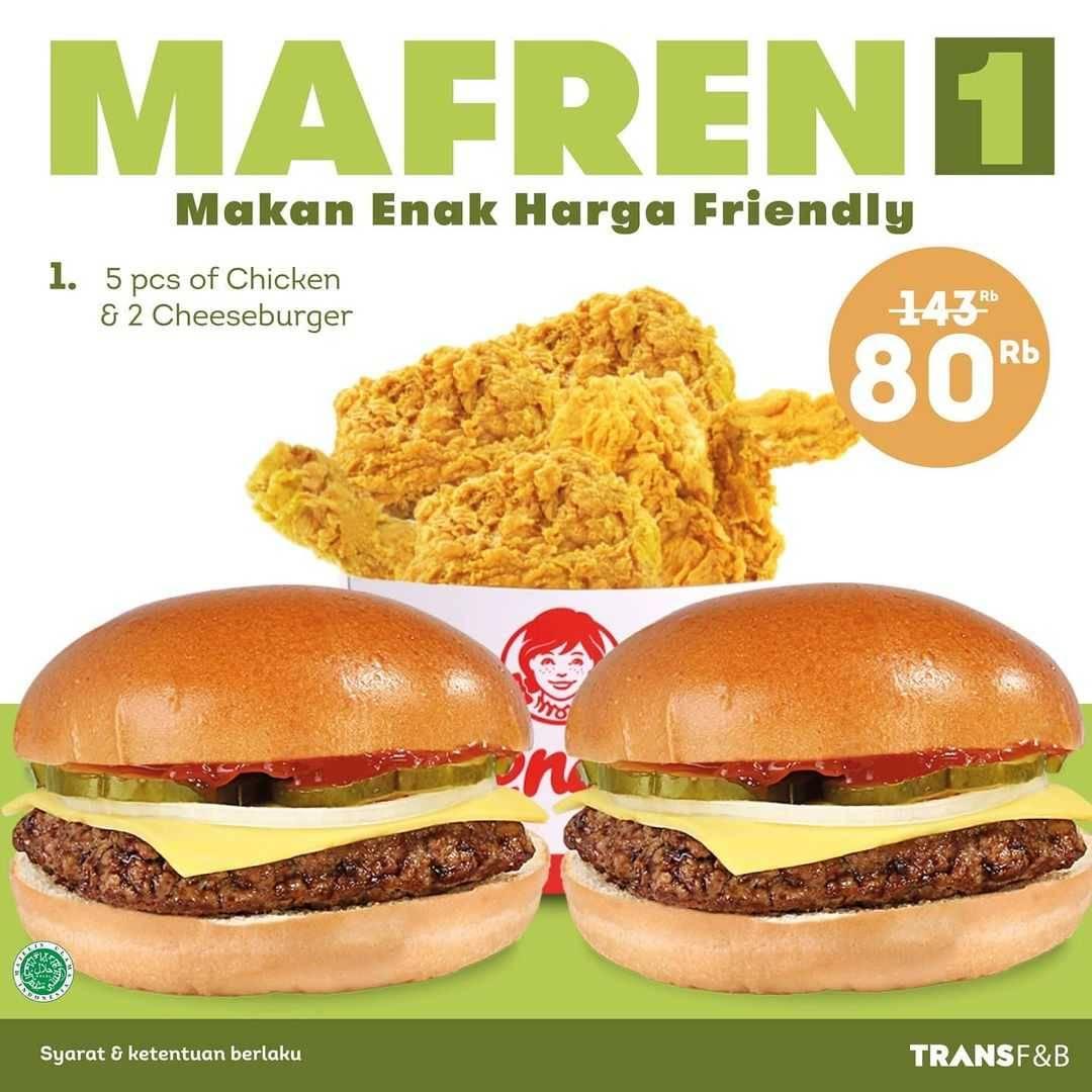 Diskon Wendys Promo Mafren 1 Hanya Rp. 80.000
