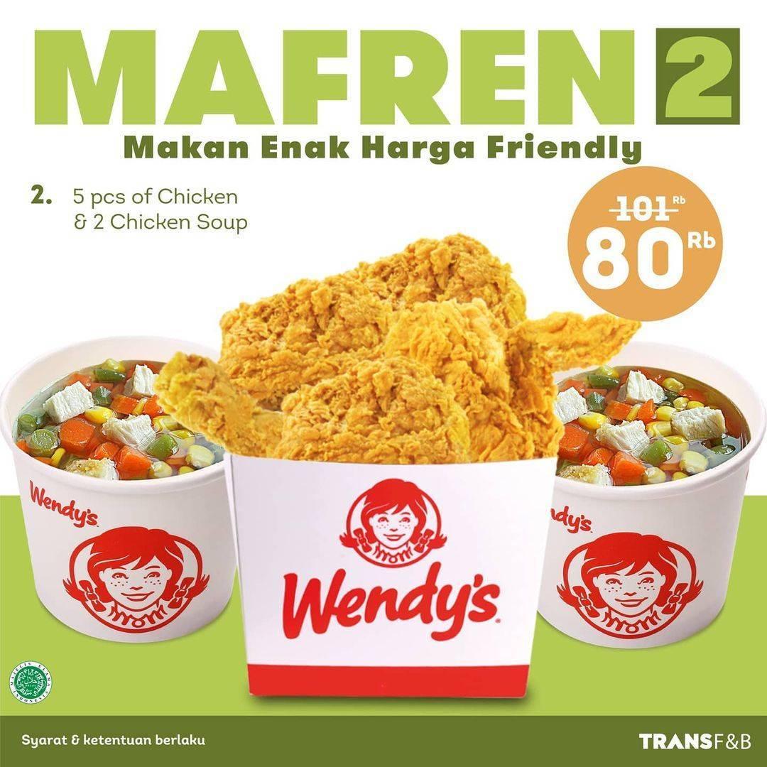 Promo diskon Wendys Promo Mafren 1 Hanya Rp. 80.000