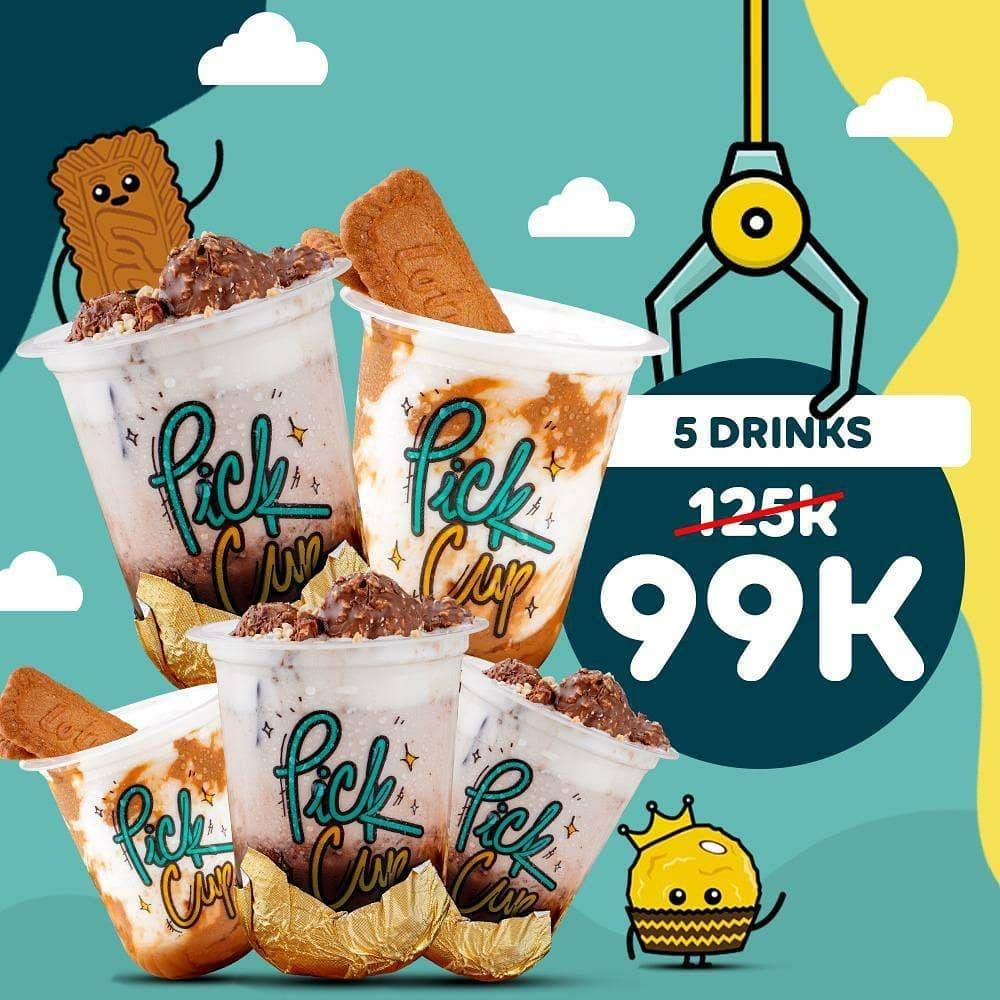 Promo diskon Pick Cup Promo Happiness Package Start From Rp. 69.000