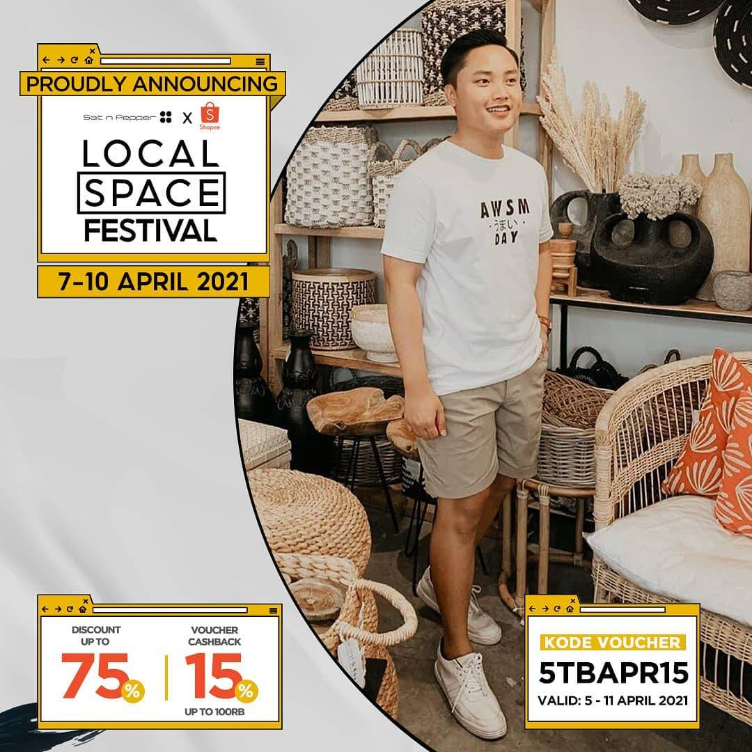 Diskon Salt & Pepper Local Space Festival Discount Up To 75% Off + 15% Off