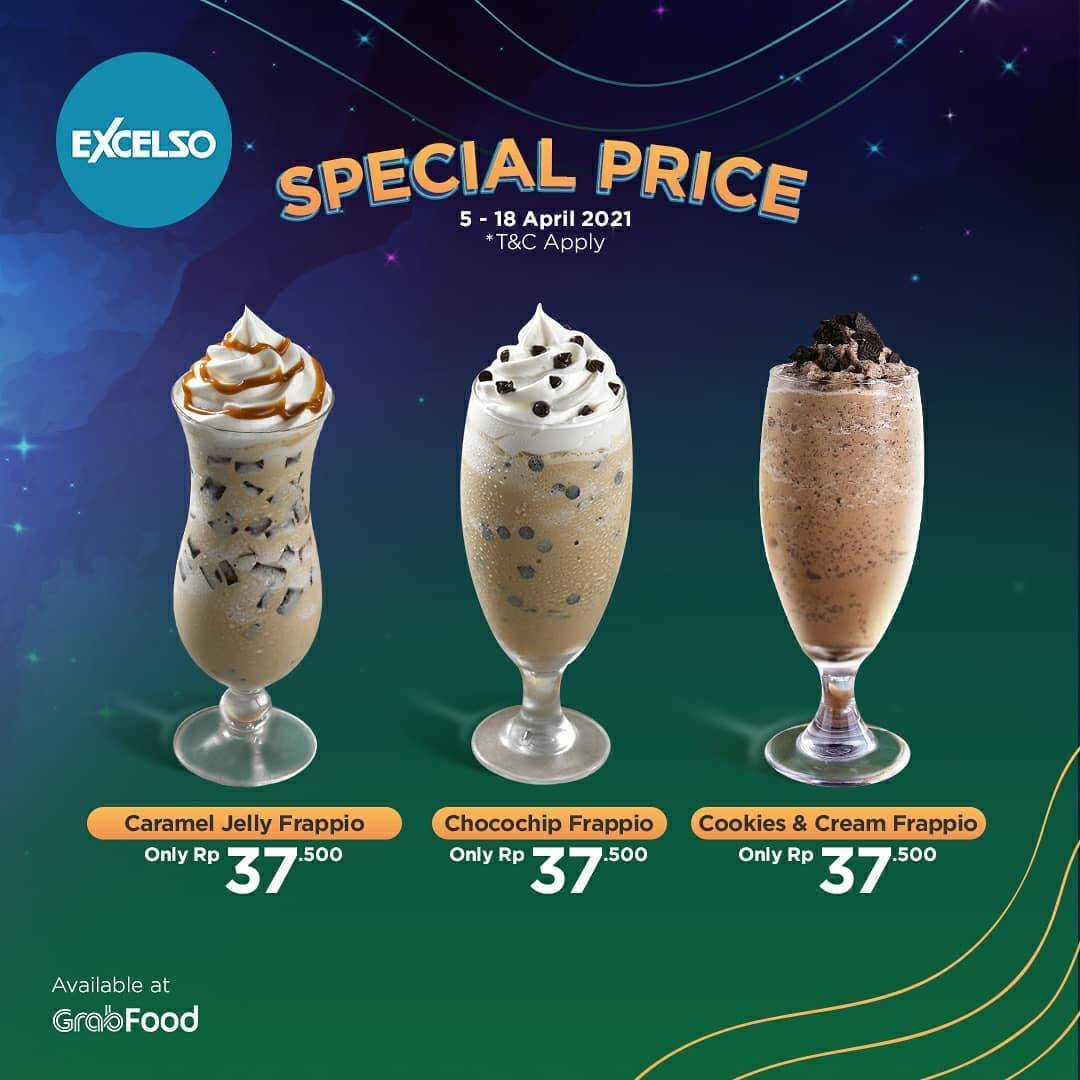 Diskon Excelso Promo Special Price On Beverages Via GrabFood