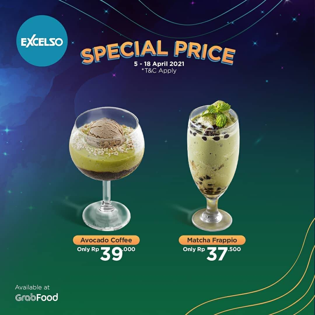 Promo diskon Excelso Promo Special Price On Beverages Via GrabFood