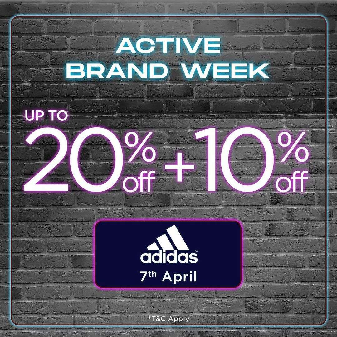 Diskon Sport Station Active Brand Week Discount Up To 20% Off + 10% Off