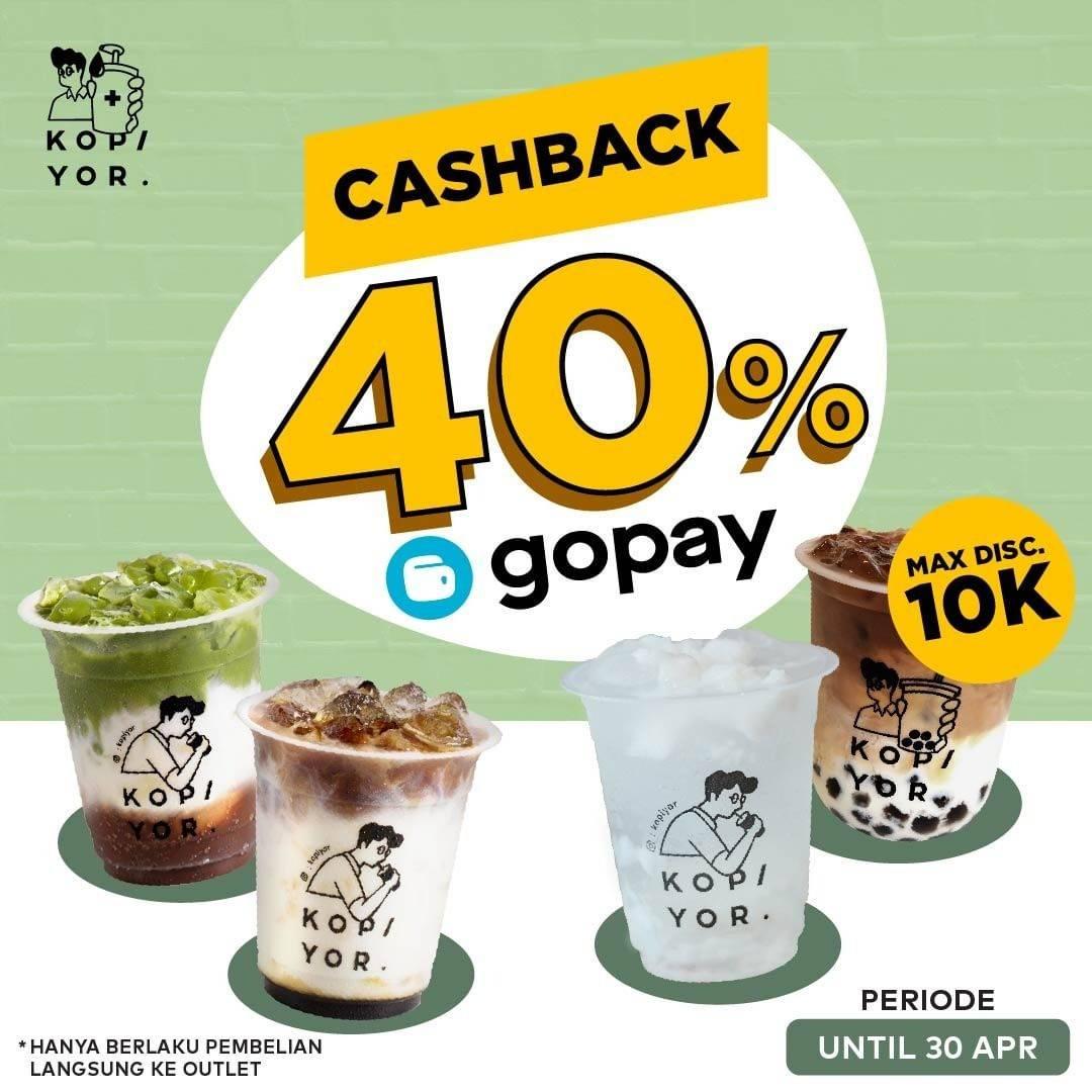 Diskon Kopi Yor Cashback 40% Dengan Gopay