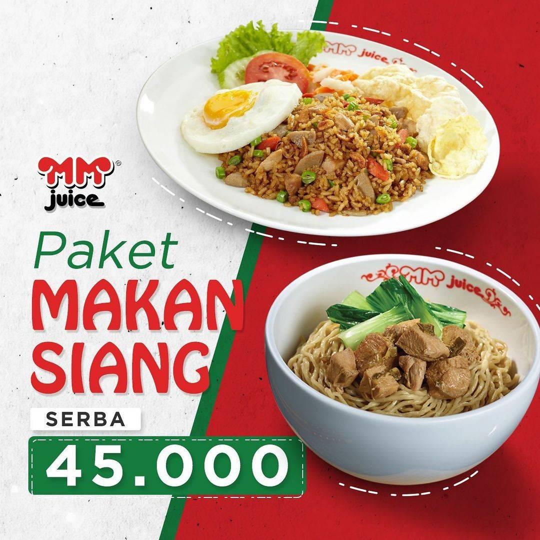 Diskon MM Juice Promo Makan Siang Bersama Serba Rp. 45.000