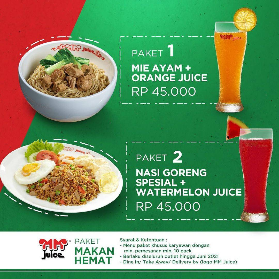 Promo diskon MM Juice Promo Makan Siang Bersama Serba Rp. 45.000