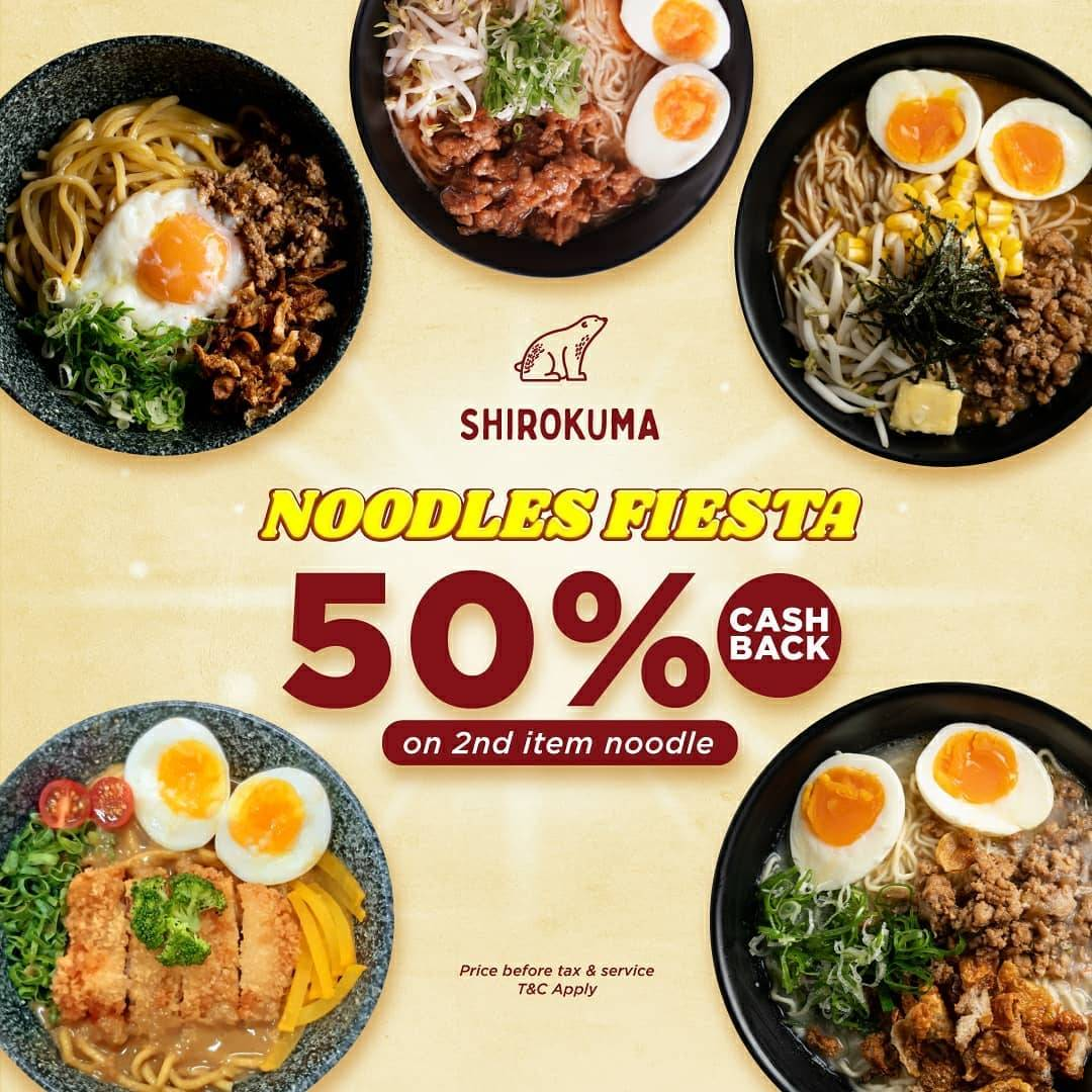 Diskon Shirokuma Noodles Fiesta Cashback 50% On 2nd Noodles