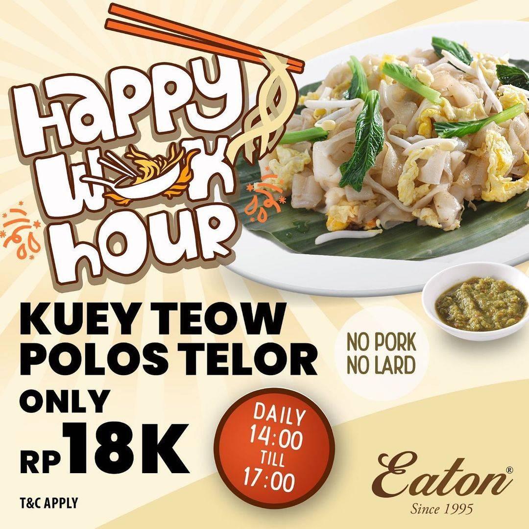 Diskon Eaton Promo Kuey Teow Telor Hanya Rp. 18.000
